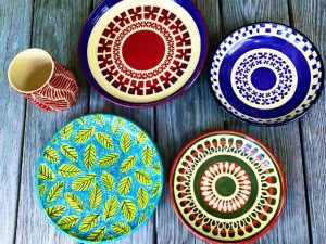 New Sgraffito Pottery Just Out of the Kiln