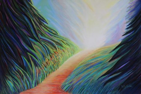 My Childhood in Nature (pastel) by Polly Castor