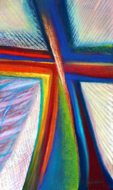 Cruciform #1 (pastel) by Polly Castor