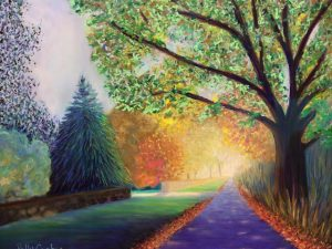 Two New Autumn Landscapes in Pastel that are in my Show