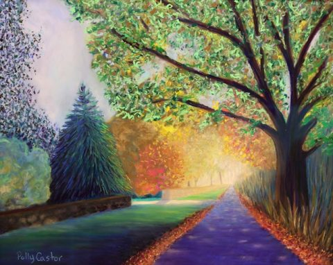 Topstone Road (pastel) by Polly Castor