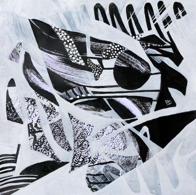Moonlit Sonata (acrylic) by Polly Castor