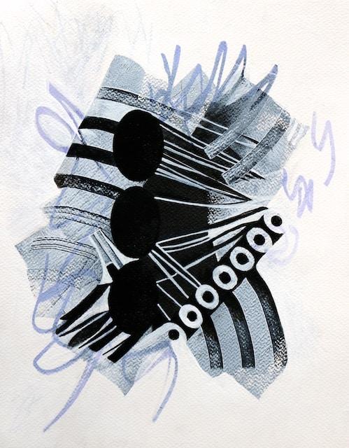 7 into 3 (acrylic) by Polly Castor