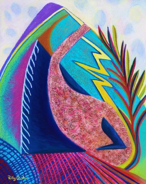 Surmounting (pastel) by Polly Castor