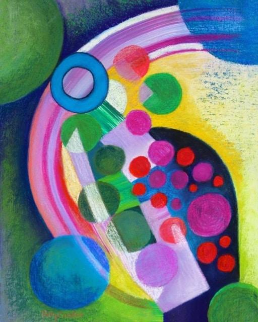 Sunspots (pastel) by Polly Castor