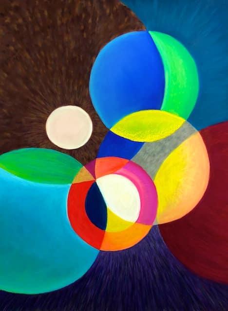 Japanese Lanterns (pastel) by Polly Castor