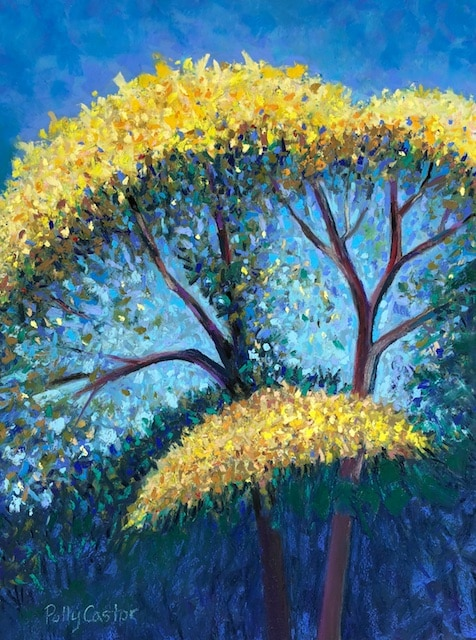 To the Tree! to the Tree! (pastel) by Polly Castor