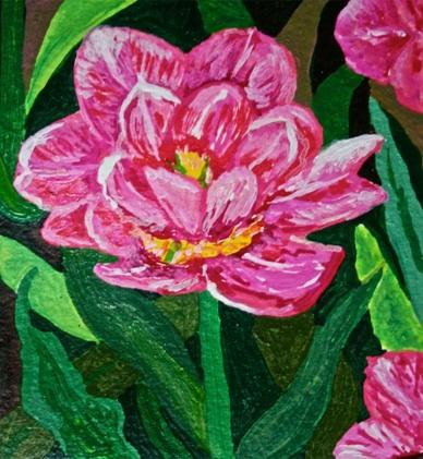 Polly Castor art: tulip