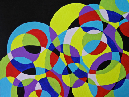Polly Castor art: Overlapping Circles