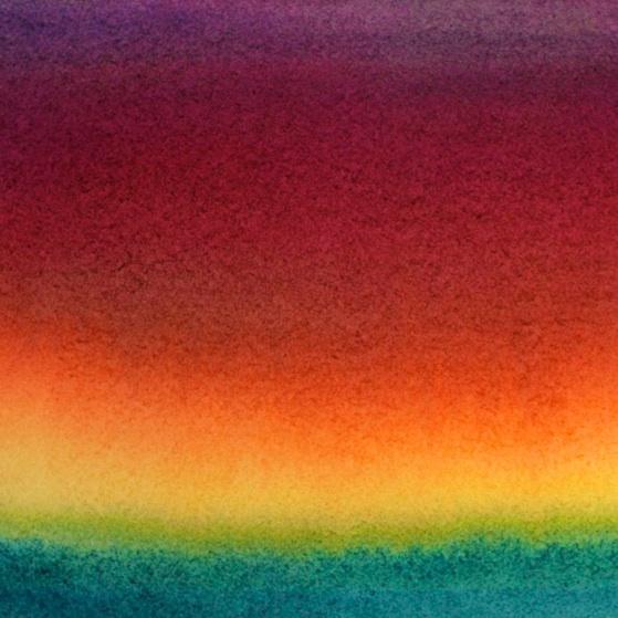 ocean sunset watercolor