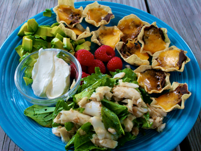 Nachos and salad