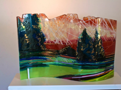 kiln fired glass by Alice Benrie Gebhart