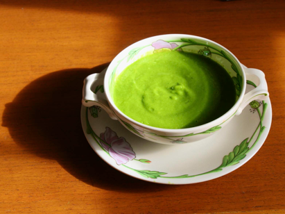 St.Patrick's Day soup, green soup, avocado and spinach soup