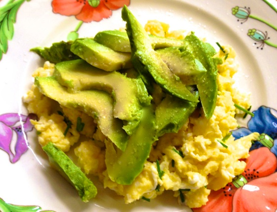 Avocado scrambled Eggs recipe