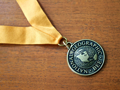 Geography Bee medal