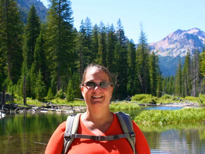 Polly Castor in Cascade Canyon