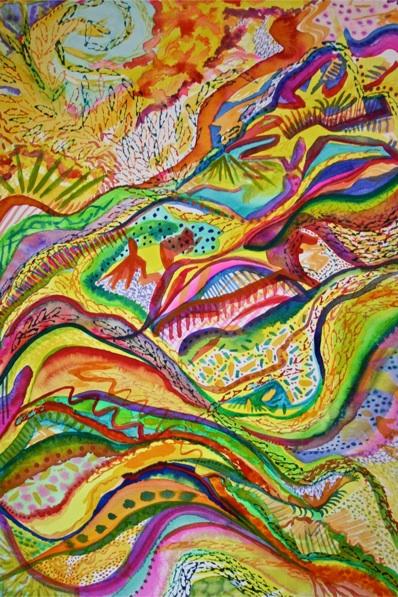 """""""Joyful Release"""" by Polly Castor (watercolor)"""