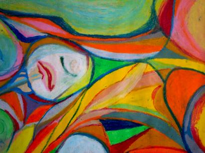 """""""Jugular"""" by Polly Castor (oil pastel)"""