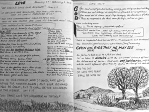 Journaling the Bible Lesson