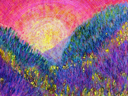 Hills of Purple Heather, Polly castor artist