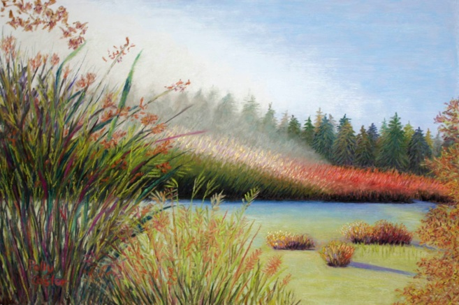 """Marsh Morning"" pastel"