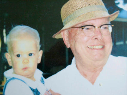 C. William Casotr with grandson Andrew Early