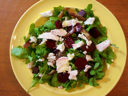 beets and goat cheese salad, Beet and Goat Cheese Salad recipe