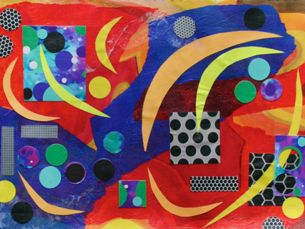 Polly Castor art, Polly Castor collage, abstract art collage