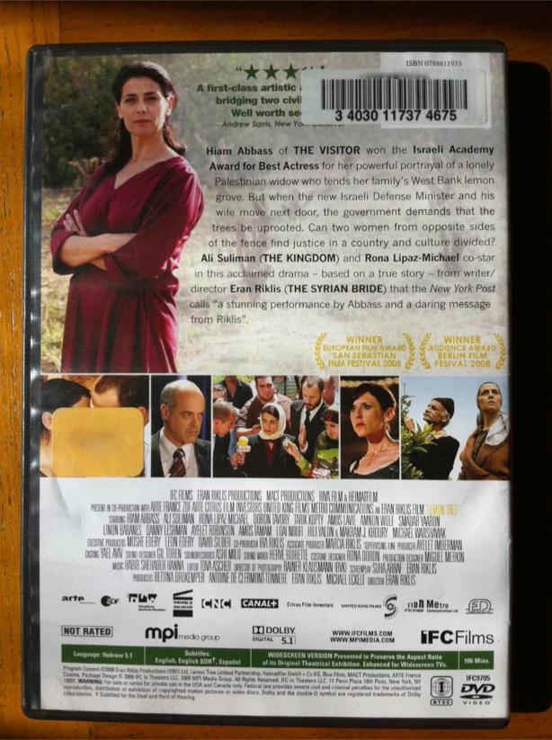 Lemon tree movie review, the lemon tree movie