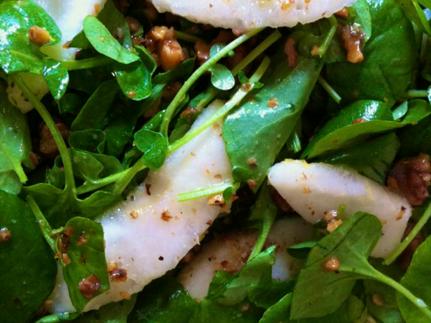 watercress pear salad