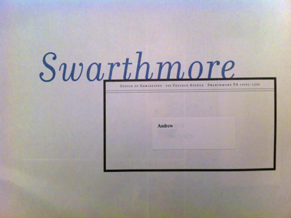 getting into swarthmore
