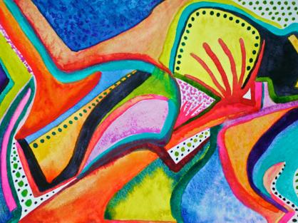 Polly Castor abstract art