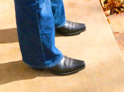 Laura's new cowboy boots