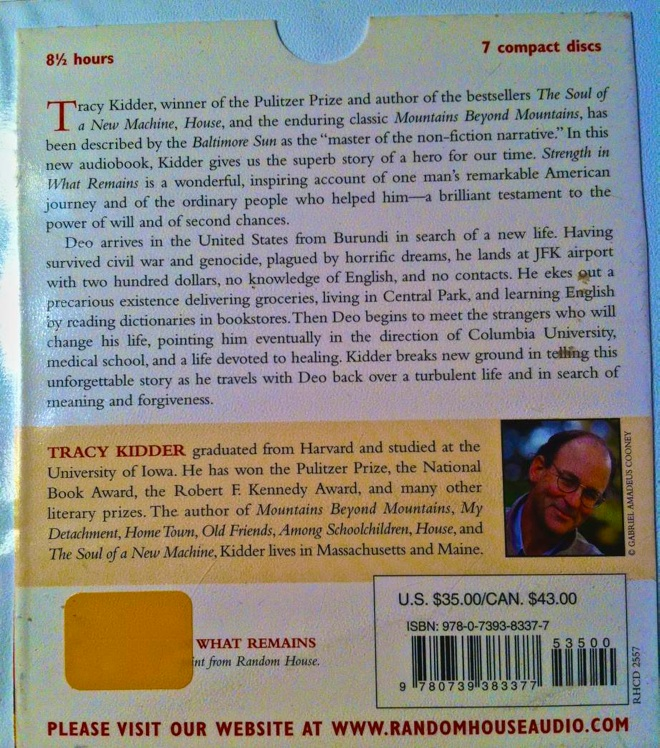 tracy kidder strength in what remains, strength in what remains tracy kidder, strength in what remains review