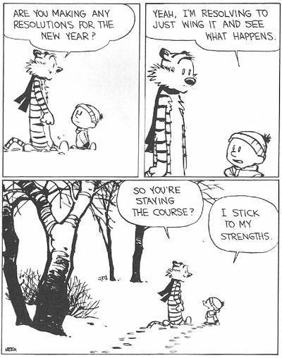 calvin and hobbs new year resolution