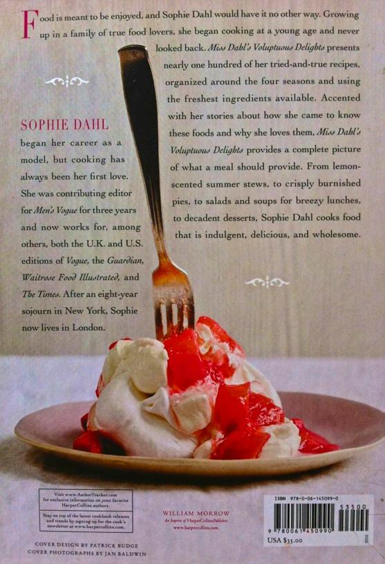 Sophie Dahl Cookbook, Dahl Cookbook