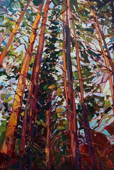 oregon-pines-modern-impressionist