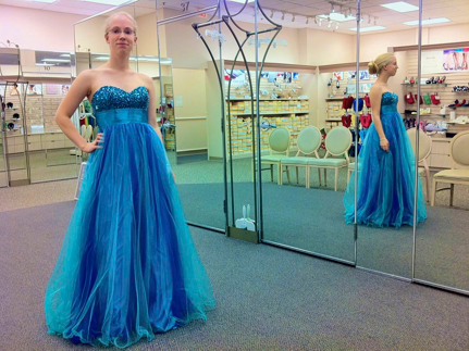 buying a ball gown