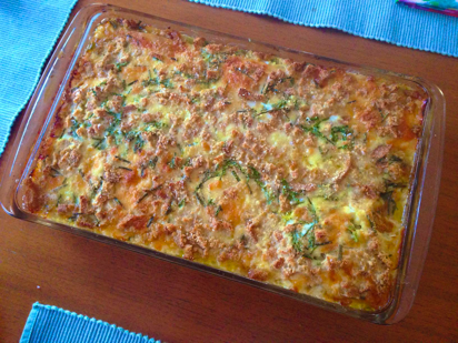 Vegetable Strata Recipe, Cheese Strata recipe, onion cheese strata