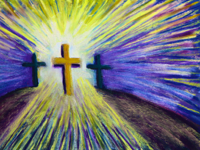 Good Friday art, Cross art