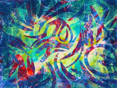 Mono prints, Mono printmaking, gelli prints