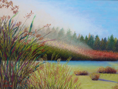 Connecticut pastel society show, art by Polly Castor