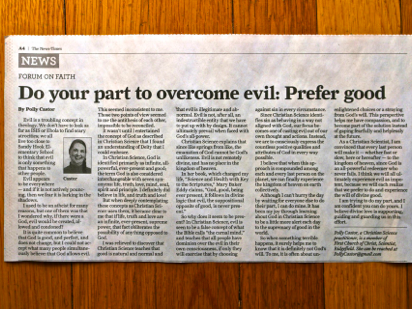 theology of evil, what christian science thinks about evil