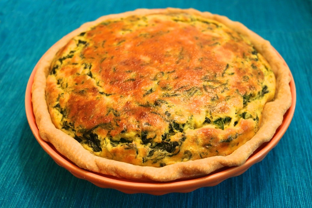 recipe spinach quiche, how to make spinach quiche