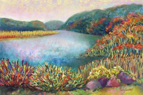 Polly Castor pastel, Polly Castor plein air painting