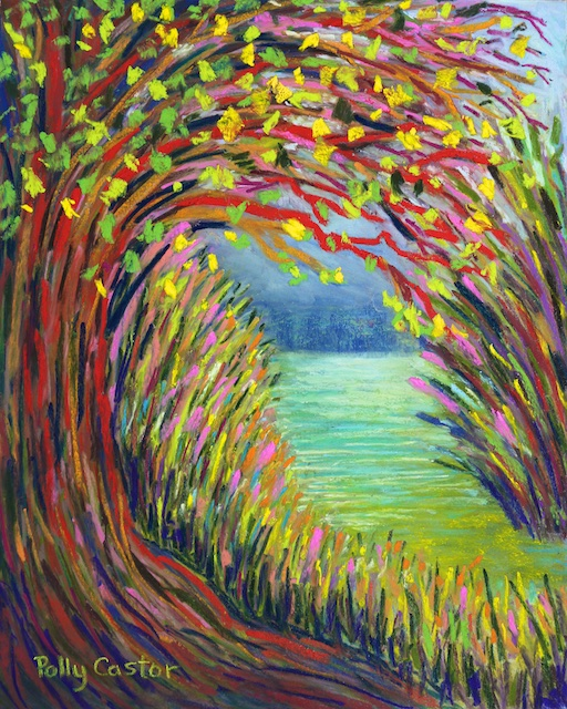 Hidden Water (pastel) by Polly Castor