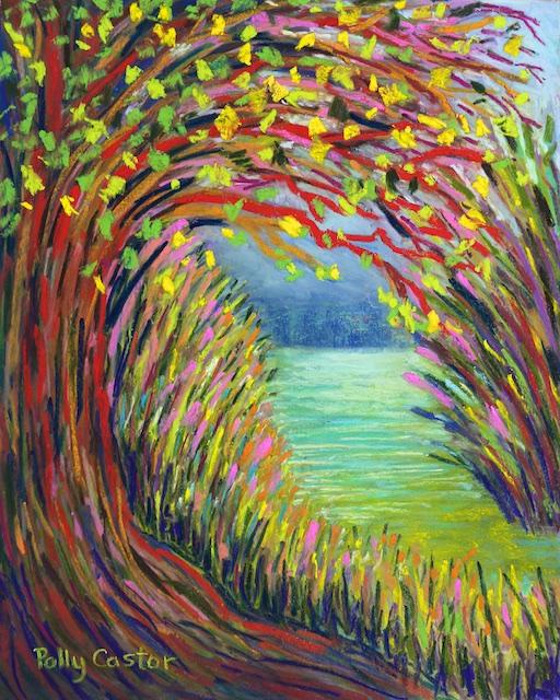 Hidden Water (pastel) by Polly Castor