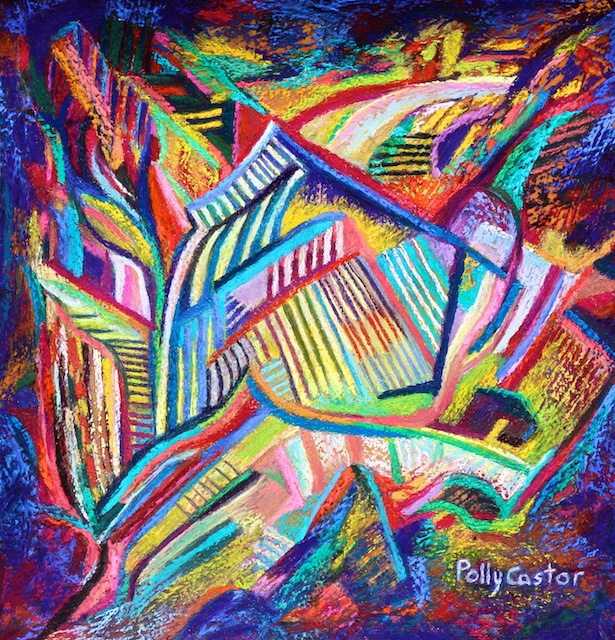 Rubaiyat (an abstract pastel) by Polly Castor