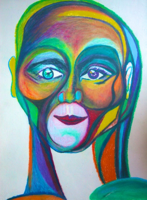 Abstract face by Polly Castor