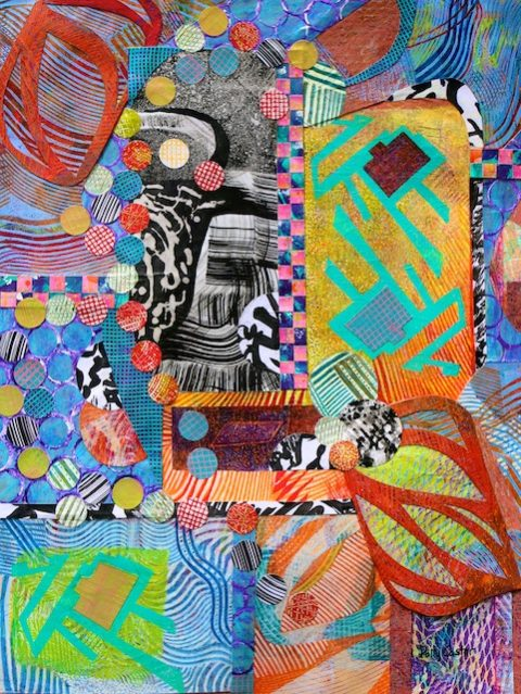 monoprint collage